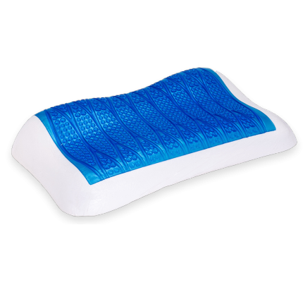 251 Anatomical Pillow Memory Cool Gel Frost 66x38x8-10.5cm